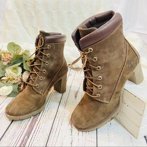 Timberland suede Glancy heeled leather boots